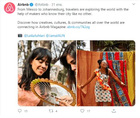 Airbnb organic social media campaign