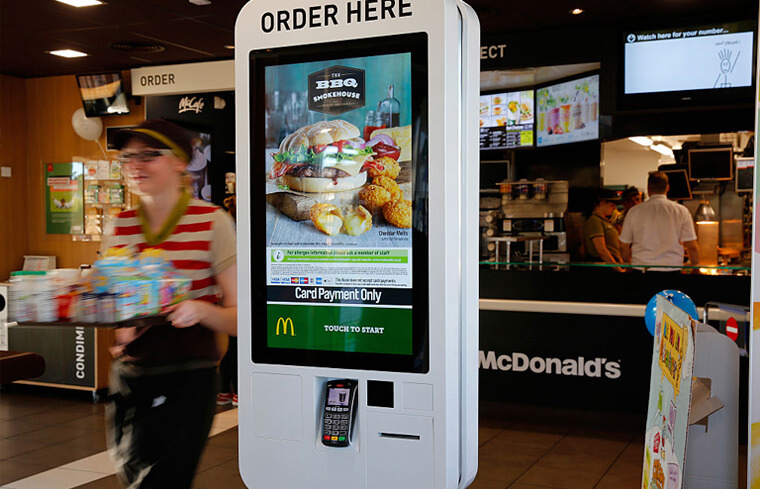 McDonalds digital ordering system