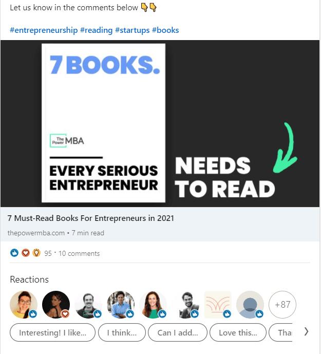 sharing posts on social media