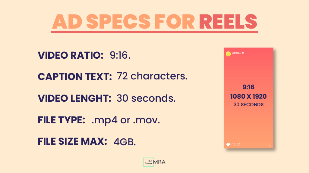 Instagram reels ad specifications