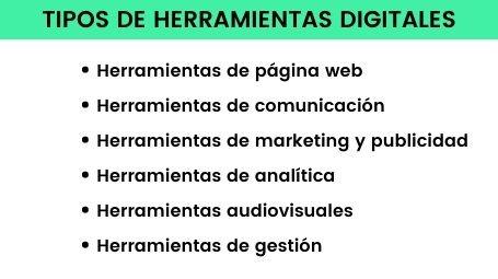 Tipos de herramientas digitales